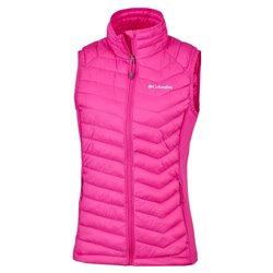 Powder Pass Vest Hoodie-Haute Pink