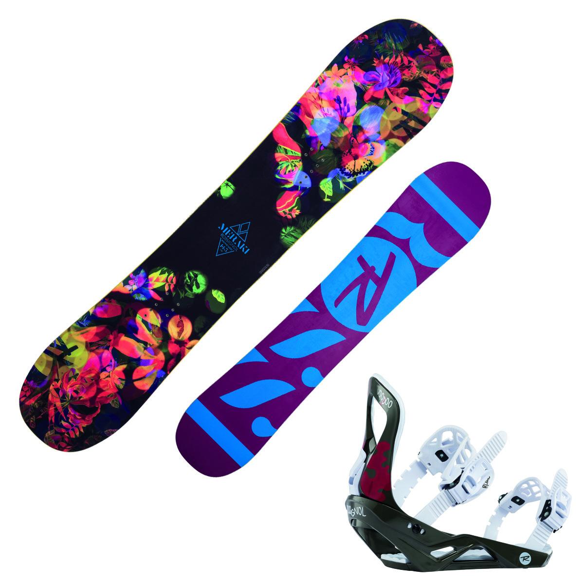 Snowboard Rossignol Meraki Donna con attacchi Voodoo S/M (Colore: fantasia, Taglia: 145)