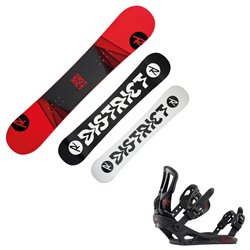 Snowboard Rossignol District avec fixations Battle M/L