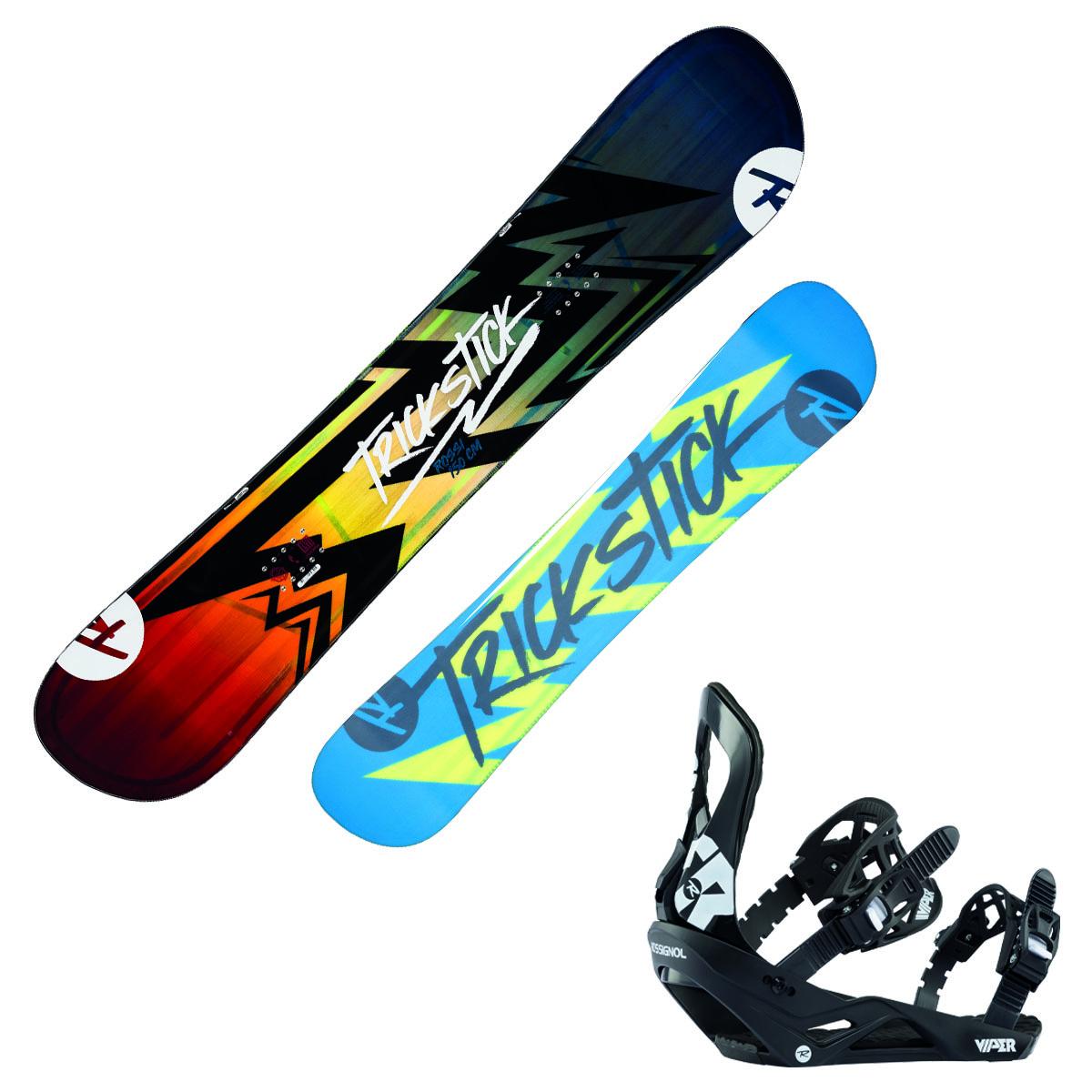 Snowboard Rossignol Trickstick Af Wide + attacchi Viper M/L (Colore: fantasia, Taglia: 162)