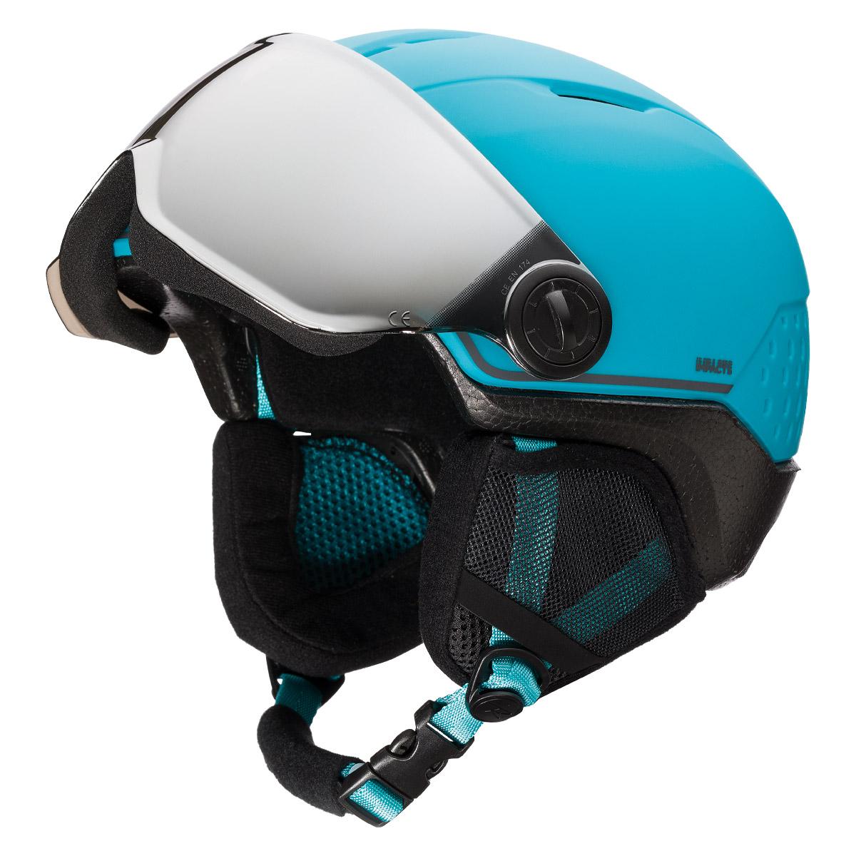 Casco sci Rossignol Whoopee Visor Impacts (Colore: blu-black, Taglia: 49/52)