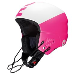 Casco sci Rossignol Hero 9 Fis Impact con mentoniera rosa-bianco