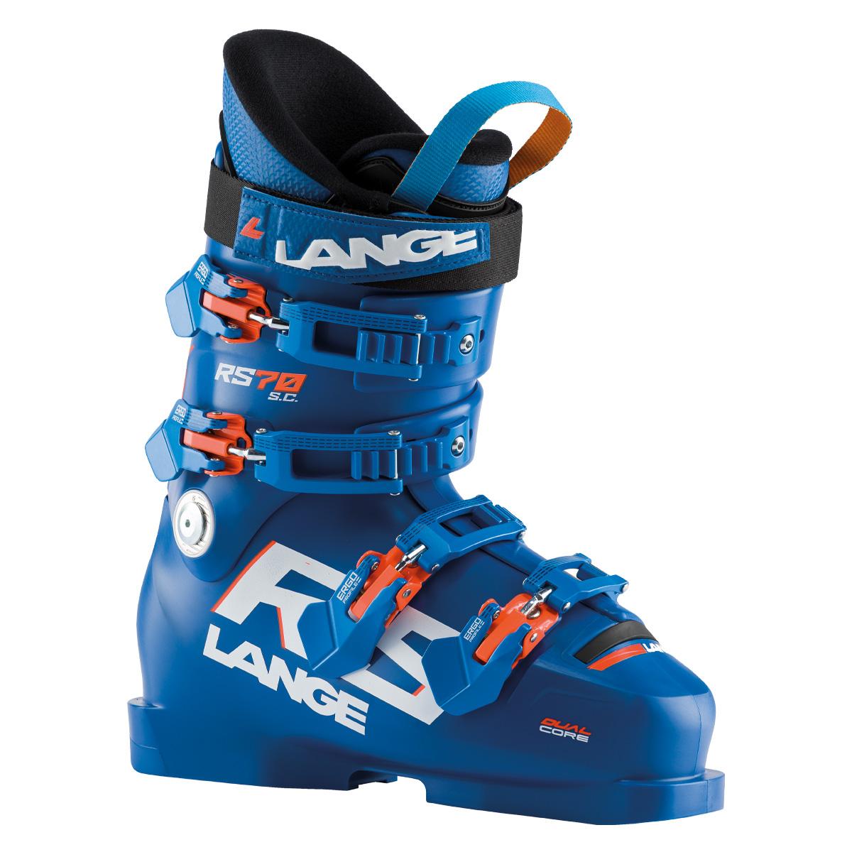 Scarponi Sci Lange RS 70 S.C. (Colore: Blu arancione, Taglia: 25)