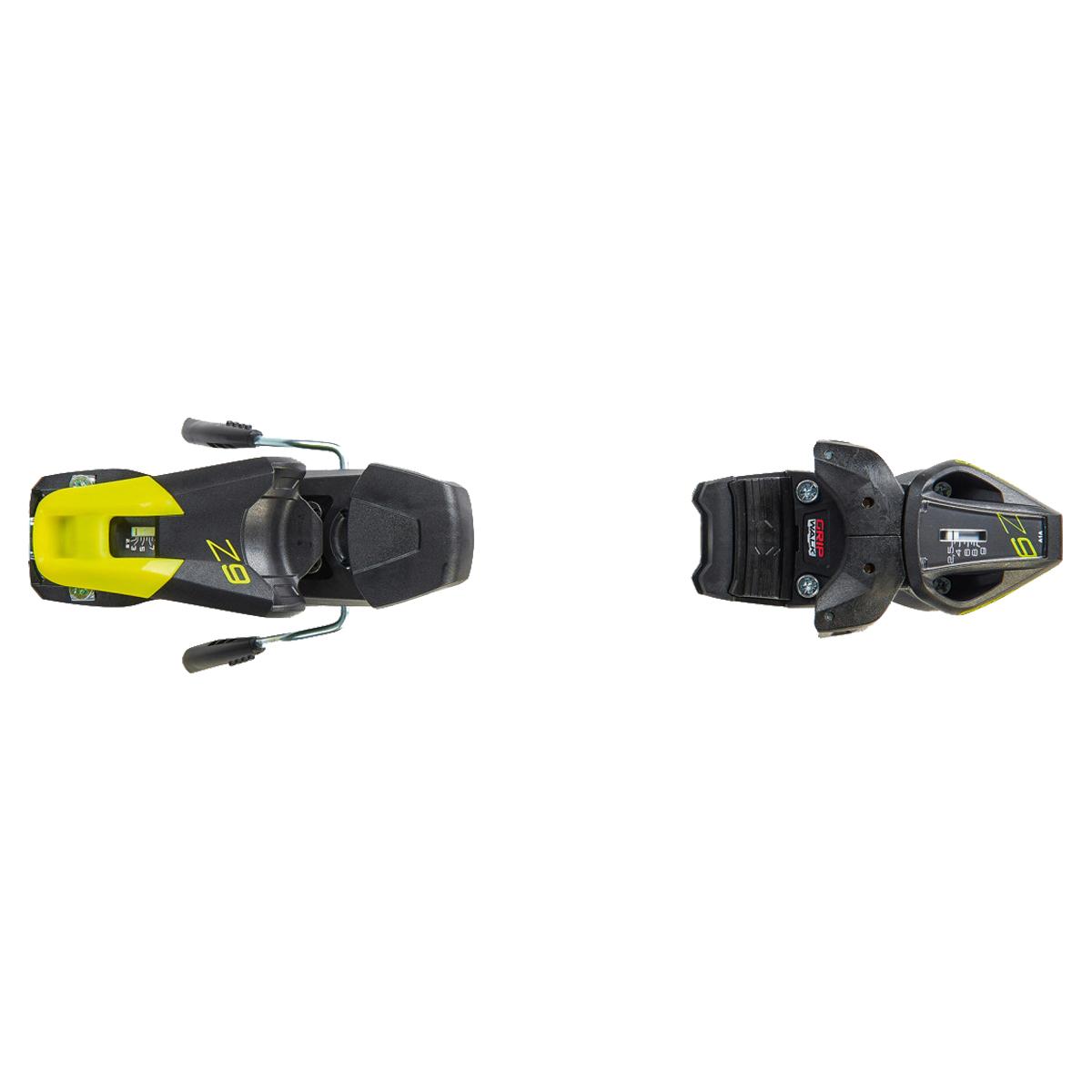 Sci Fischer RC4 WC GS Jr Curv Booster con attacchi RC4 Z9 GW AC (Colore: nero-giallo, Taglia: 130)