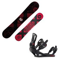Snowboard Rossignol Circuit Wide con attacchi Battle