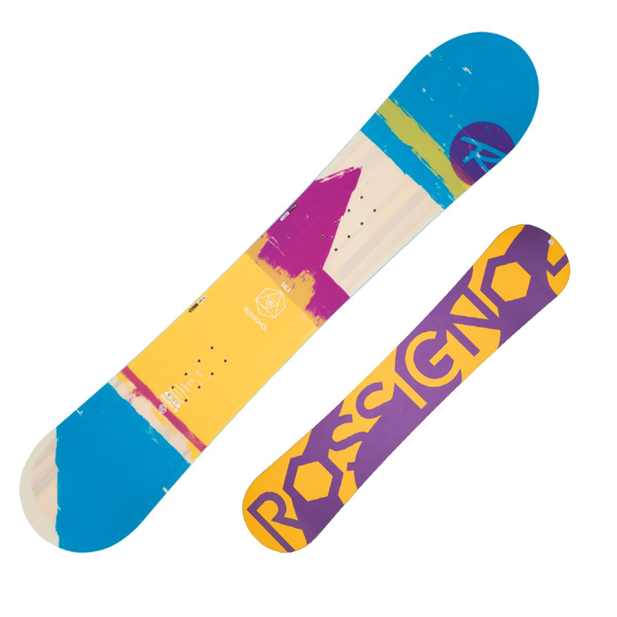 Snowboard Rossignol Gala Ltd (Colore: giallo-azzurro fantasia, Taglia: 146)