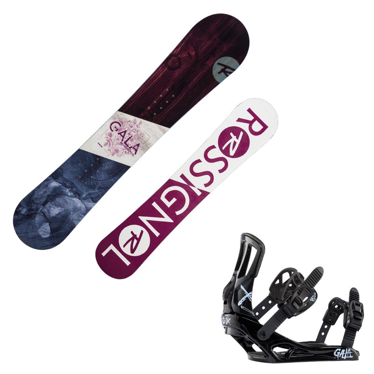 Snowboard Rossignol Gala con attacchi Gala S/M (Colore: fantasia, Taglia: 150)