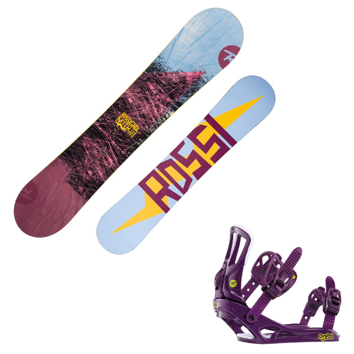 Snowboard Rossignol Myth con attacchi Myth S/M (Colore: fantasia, Taglia: 144)