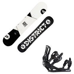 Snowboard Rossignol District B W con attacchi Battle B W
