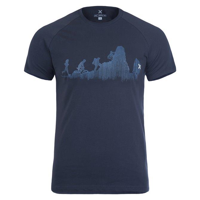 T-shirt trekking Montura Sporty grigio-giallo