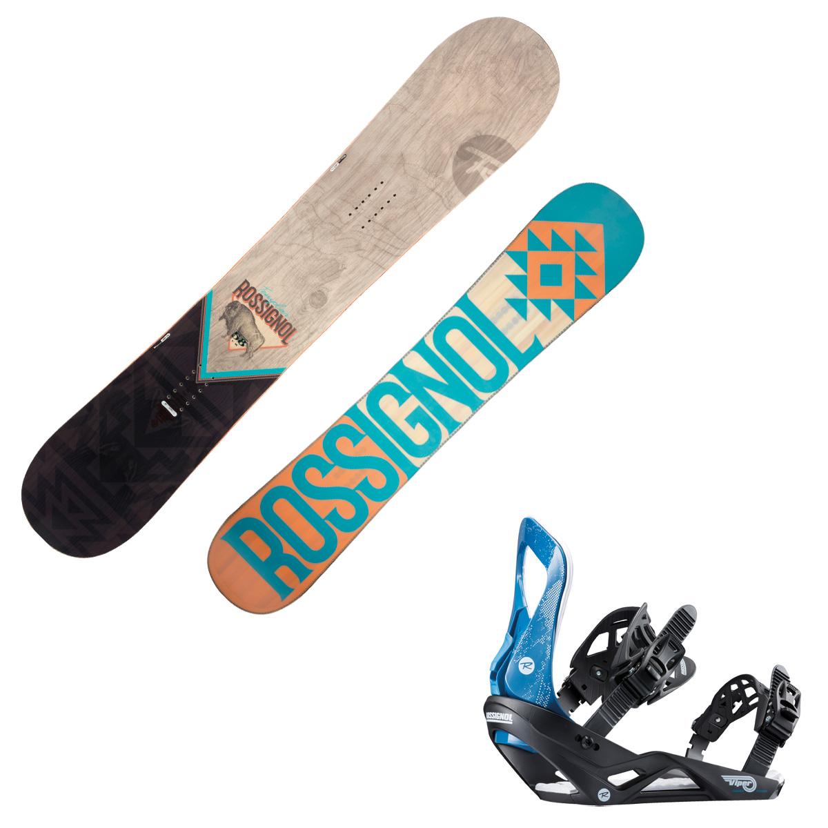 Snowboard Rossignol Templar + attacchi Viper (Colore: marrone-nero, Taglia: 153)