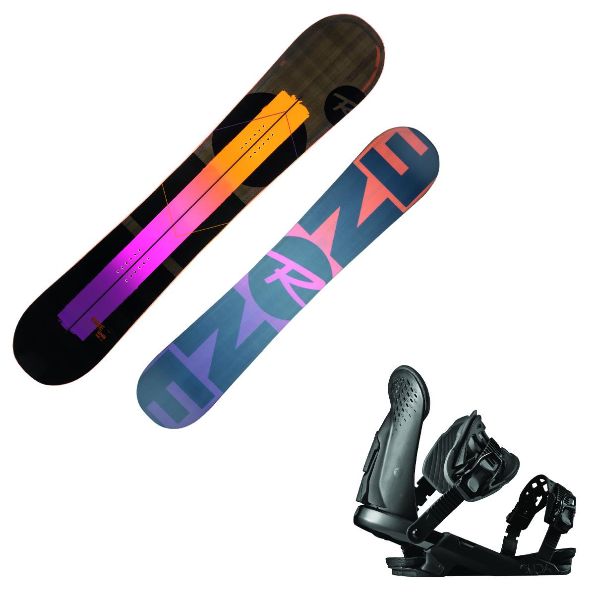 Snowboard Rossignol One Lf ( lite frame ) + attacchi Cuda M/L (Colore: nero-arancio, Taglia: 156)