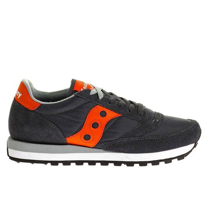 Sneakers Saucony Jazz original man charcoal- orange