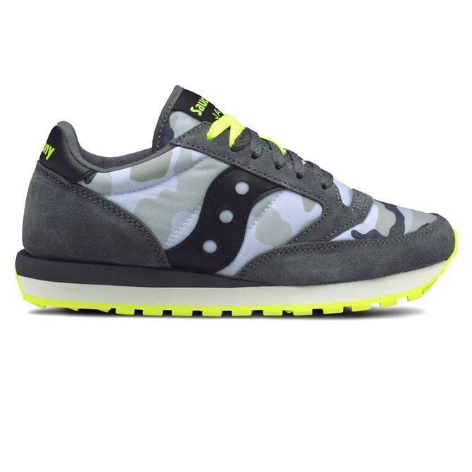 Saucony Jazz sneakers original man grey camo-yellow