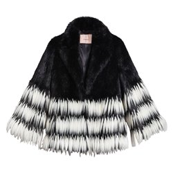 Jacket Twinset faux fur