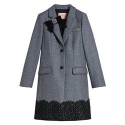 Cappotto Twin-set grigio medio melange