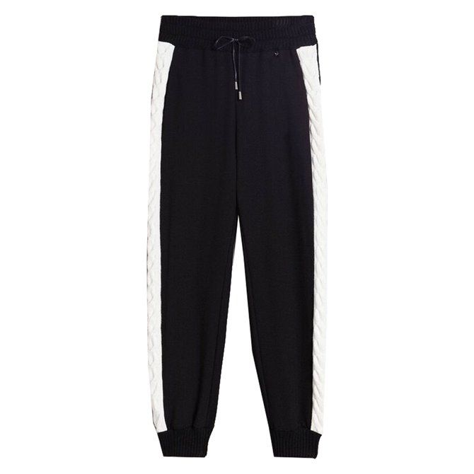 Pantalone Twin-Set bic. nero-neve