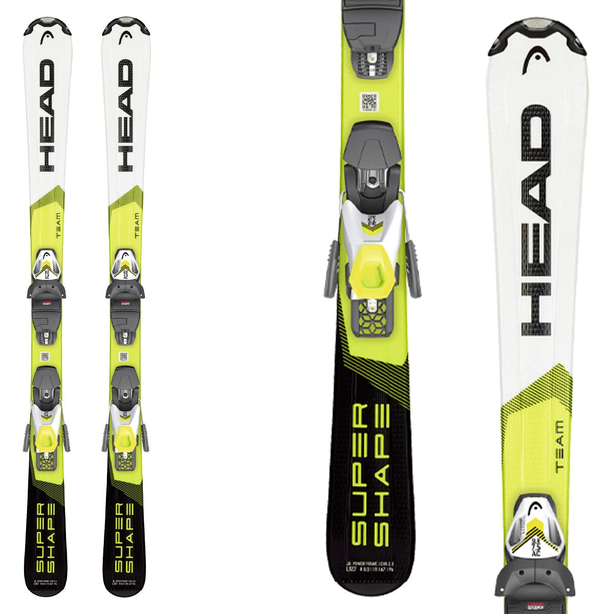 Sci Head Supershape Team SLR con attacchi SLR 7.5 GW Brake 78 (Colore: bianco-giallo, Taglia: 147)