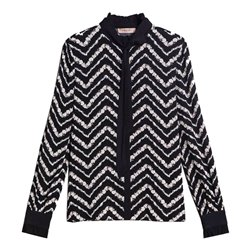 Camicia Twin-Set st. chevron nero-neve