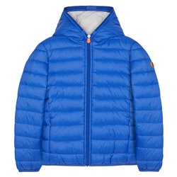 Children's save the duck down jacket with hood and zip