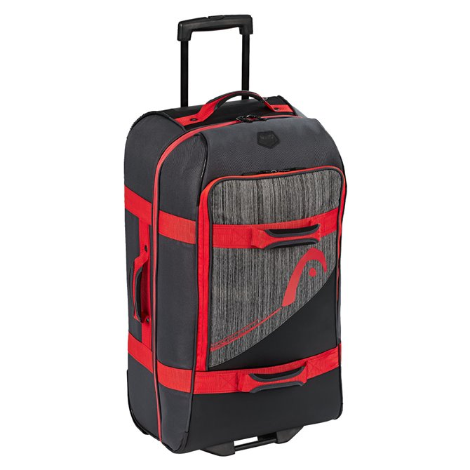 Trolley Head Travelbag SM nero-grigio-rosso