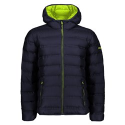 cmp men's down jacket with hood and zip