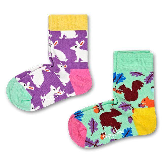 Calze Happy Socks Bunny verde-viola-giallo