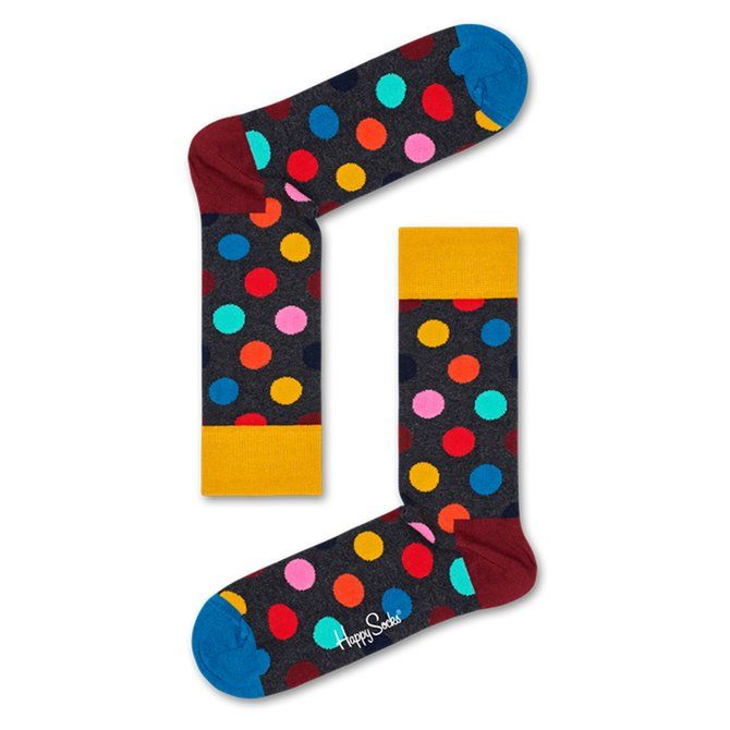Calze Happy Socks Big Dot blu-rosso-giallo