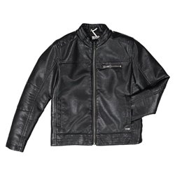 Melby faux leather jacket with zip