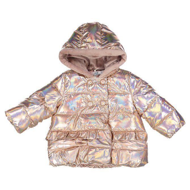 Giubbino Melby in Nylon con zip e cappuccio neonata