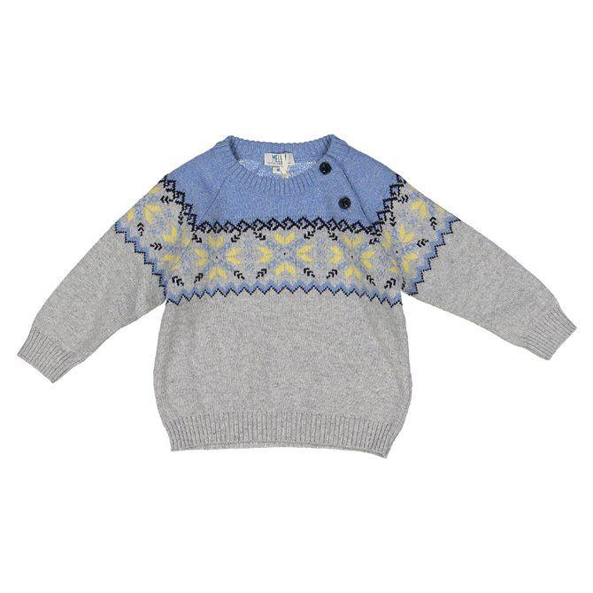 Maglia in tricot Melby maniche lunghe neonato