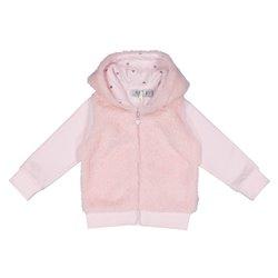Sweat-shirt Melby à capuche, manteau de fourrure et zip intégral pour nouveau-né