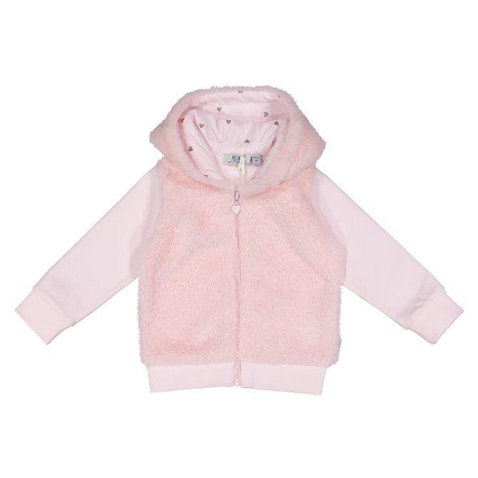 Felpa Melby con cappuccio, pelliccetta e fullzip neonata