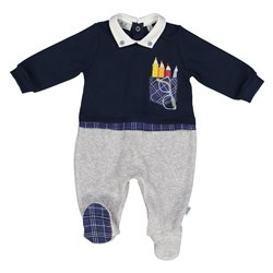 Melby playsuit with long interlock Baby foot