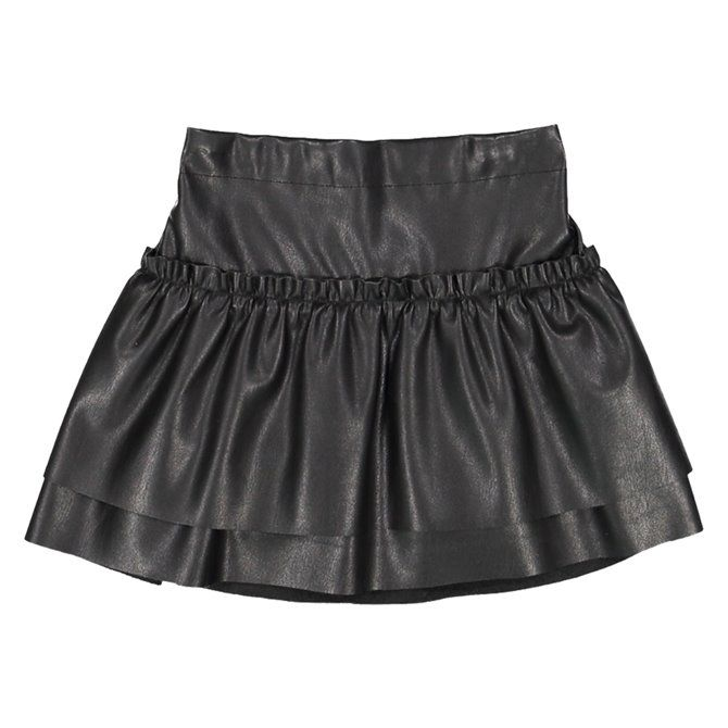 Melby girl's faux leather skirt
