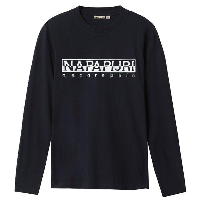 T-shirt Napapijri Serber LS black
