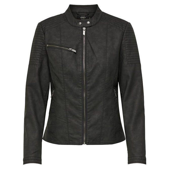 onlMEGAN FAUX LEATHER JACKET CC OTW Black