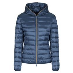 Down jacket Save The Duck with hood and zip Women