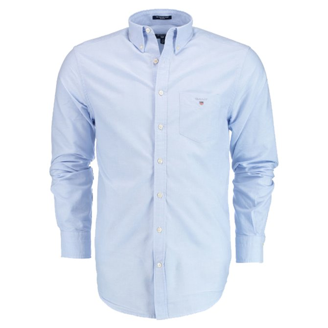 Camicia Gant The Oxford azzurro
