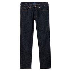 Jeans Gant Slim jean droit bleu