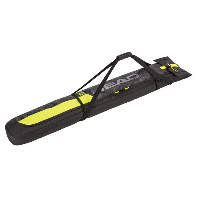 Sacca portasci Head Double Skibag nero-giallo