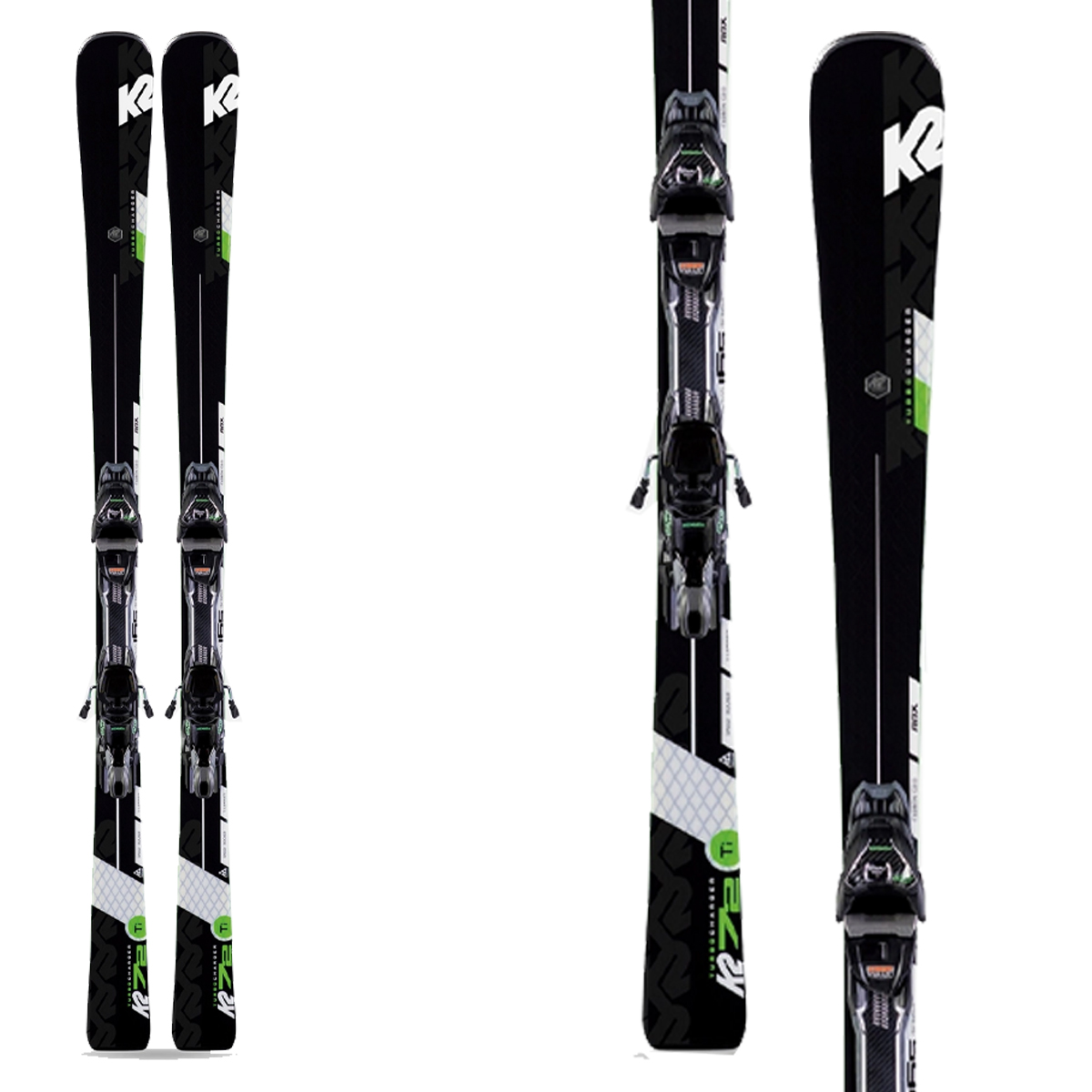 K2 Ski Turbo Charger With Bindings Mxcell 12 Tcx
