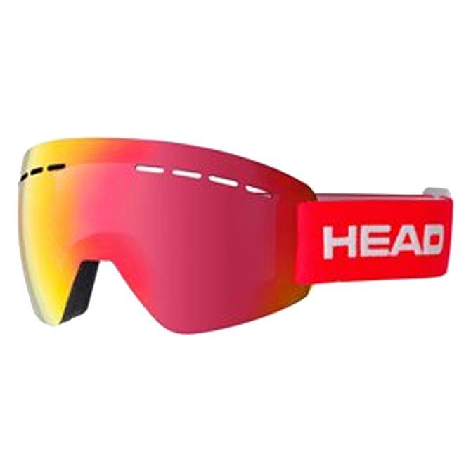 Maschera sci Head Solar rosso