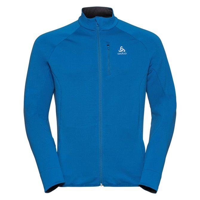 MIDLAYER FULL ZIP CARVE DIRECTOIRE BLUE