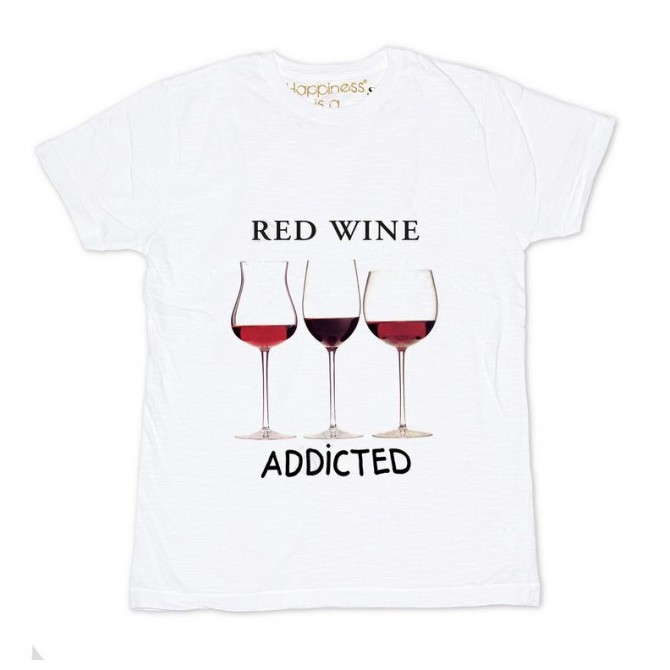 t-shirt Happiness Bicchieri Uomo