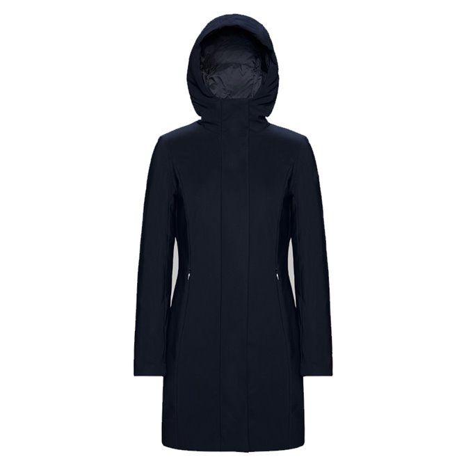 RRD Chaqueta larga de invierno para mujer con capucha