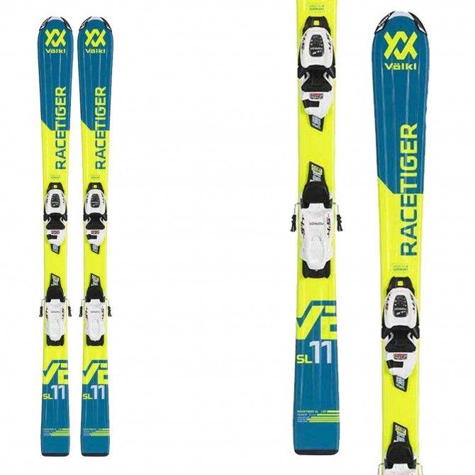 Skis Volkl Jr Racetiger avec 7.0 attaques VMotion