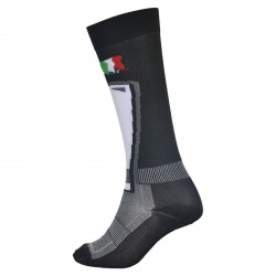Bottero Ski Sock Ski 700 X-static black-gray