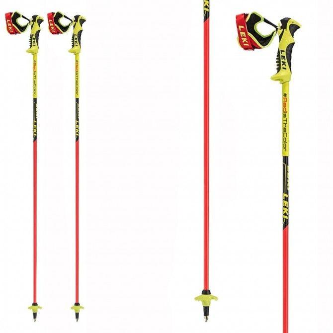 Ski polesi Leki WC Racing Comp Jr yellow-black-red