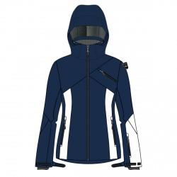 Giacca sci Bottero Ski Blue Navy-White